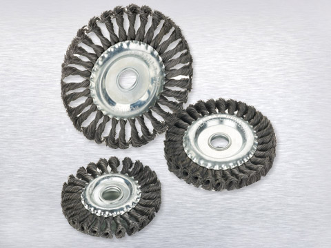 Twisted wire wheel brush