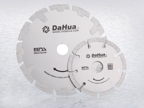 Press sintered segmented saw blades