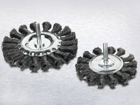 Wire wheel brush with shank